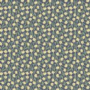 Lewis & Irene Flo's Little Flowers - 5001 - Daffodils on Navy Blue - FLO3-4 - Cotton Fabric